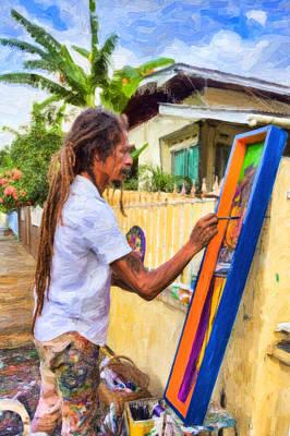 Photograph - Street Artist by Nadia Sanowar