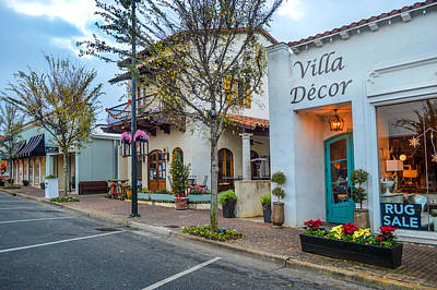 Photograph - Street At Villa Decor In Fairhope by Michael Thomas
