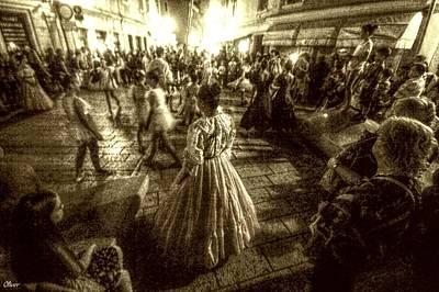 Mixed Media - Street Ballet by Bill Oliver