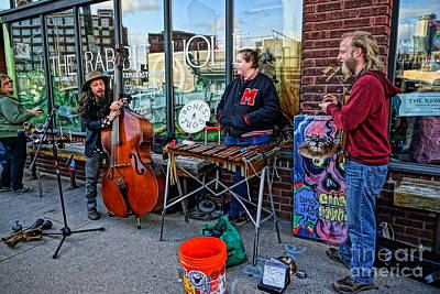 Photograph - Street Band by Bob Brents
