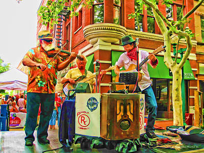 Photograph - Street Band In West Virginia by Joan  Minchak
