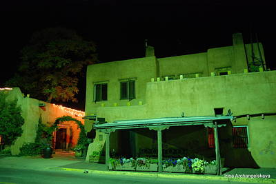 Photograph - Street Building In Santa Fe by Irina ArchAngelSkaya