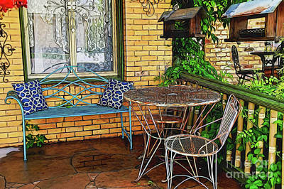 Photograph - Street Cafe 13918 by Ray Shrewsberry