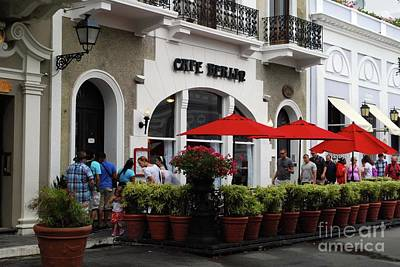 Photograph - Street Cafe by Gary Wonning
