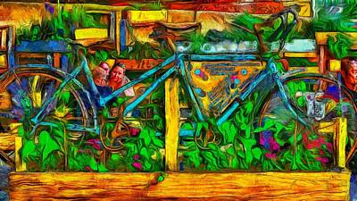 Digital Art - Street Cafe by Leigh Kemp