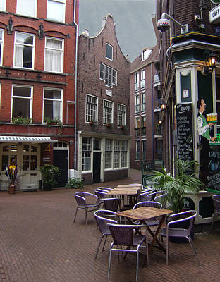 Photograph - Street Cafe Mooy In Amsterdam by Ginger Wakem