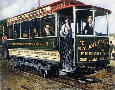 Photograph - Street Car, C. 1895 by Granger