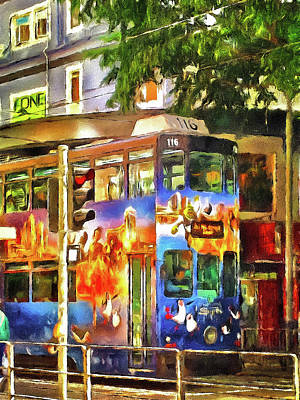Street Car Hong Kong Art Print by Yury Malkov