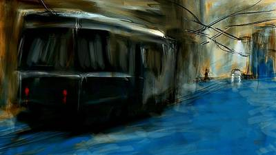 Painting - Street Car by Jim Vance