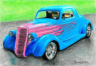 Racecar Drawing - Street Car by Peter Paul Lividini