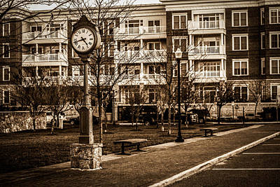 Chronos Photograph - Street Clock In Occoquan by Andrew King
