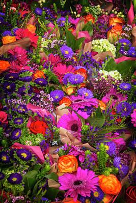 Gerbera Photograph - Street Cornor Flowers by Garry Gay