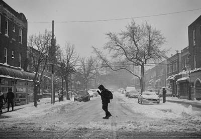 Photograph - Street Crossing In The Snow by Robert Nguyen