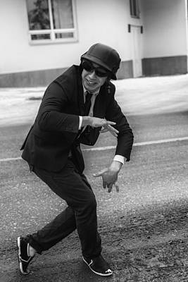 Photograph - Street Dancer Of Funk In Hat And Goggles by John Williams