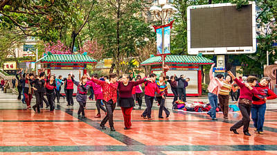Photograph - Street Dancing by Maria Coulson