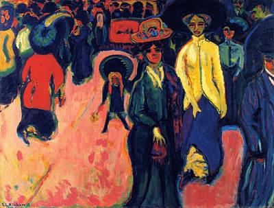 Stroll Painting - Street, Dresden by Ernst Ludwig Kirchner
