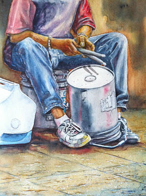 Street Drummer Original by Don Whitson