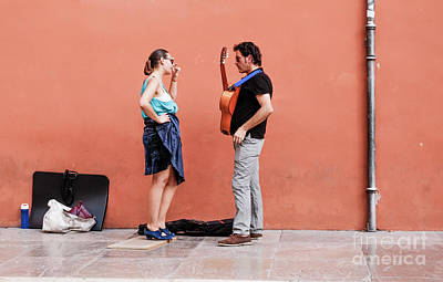 Photograph - Street Flamenco. by Perry Van Munster