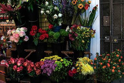 Photograph - Street Flowers In North Beach by Bonnie Follett