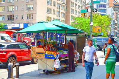 Pepsi Painting - Street Food  7 by Lanjee Chee