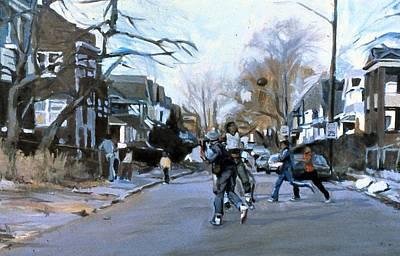 Painting - Street Football by David Buttram