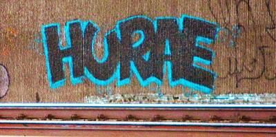 Street Graffiti-hooray Art Print