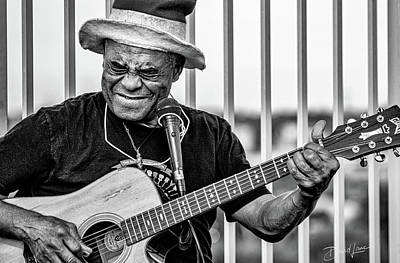 Photograph - Street Guitarist by David A Lane