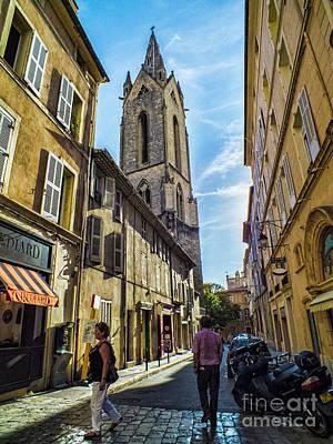 Photograph - Street In Aix by Karen Lewis