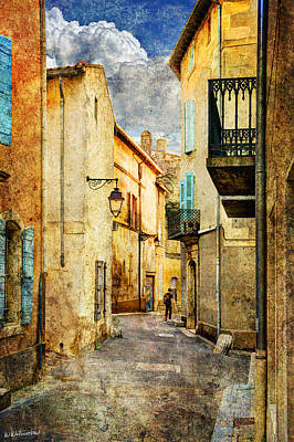 Photograph - street in Arles in the sunset - Vintage version by Weston Westmoreland