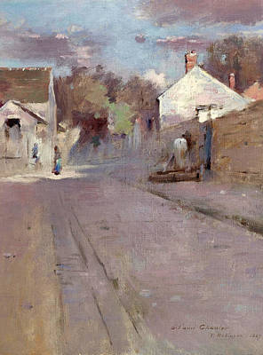 Painting - Street In Barbizon by Theodore Robinson