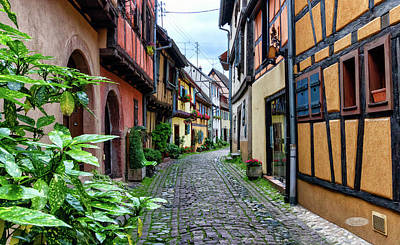 Photograph - Street In Eguisheim, Alsace, France by Elenarts - Elena Duvernay photo