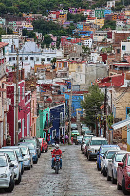 Photograph - Street In Guanajuato Mexico by Tatiana Travelways