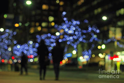 Photograph - Street In Holiday Season by Charline Xia