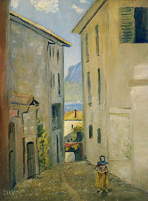 Painting - Street In Lugano by Louis Michel Eilshemius