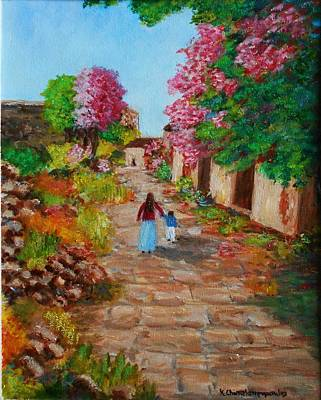 Painting - Street In Monemvasia by Konstantinos Charalampopoulos