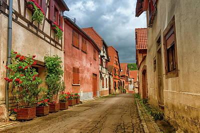 Photograph - Street In Obernai City, France by Elenarts - Elena Duvernay photo