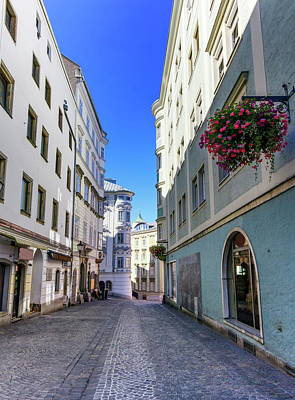 Photograph - Street In Old City, Linz, Austria by Elenarts - Elena Duvernay photo
