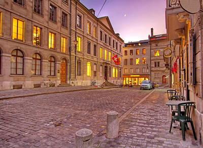 Photograph - Street In Old Geneva, Switzerland, Hdr by Elenarts - Elena Duvernay photo