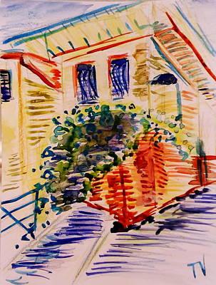 Street In Old Nice, French Riviera Art Print by Tamara Vitsenkova