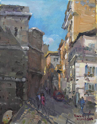 Street In Rome Art Print by Ylli Haruni