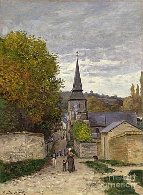 Overcast Painting - Street In Sainte Adresse by Claude Monet