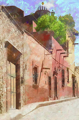 Photograph - Street In San Miguel De Allende 1 by Rob Huntley