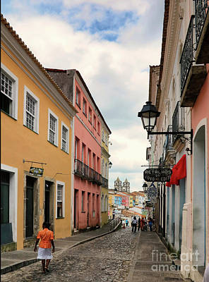 Photograph - Street In San Salvador by Vivian Christopher
