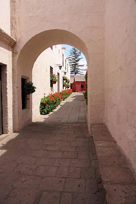 Photograph - Street In Santa Catalina Monastery, Arequipa, Peru by Aidan Moran