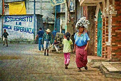 Photograph - Street In Santiago Atitlan, Guatemala by Tatiana Travelways