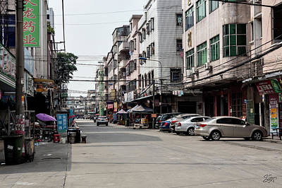 Photograph - Street In Shilong China by Endre Balogh