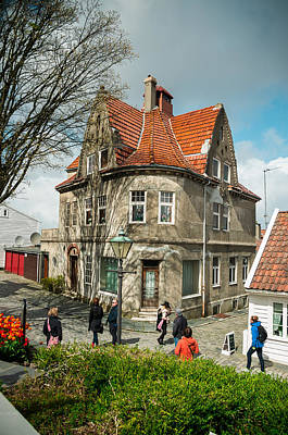 Street In Stavanger Print by Mirra Photography