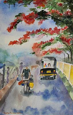Painting - Street In Summer, India by Geeta Biswas