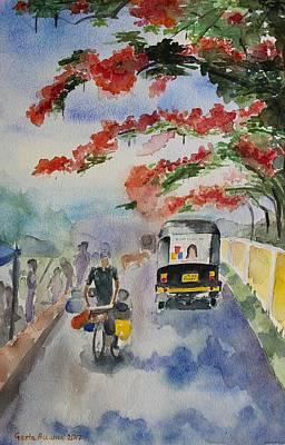 Painting - Street In Summer, India by Geeta Biswas