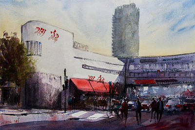 Painting - Street In Tel Aviv Israel by Lior Ohayon